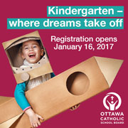 Ottawa Catholic School Board Kindergarten 2017